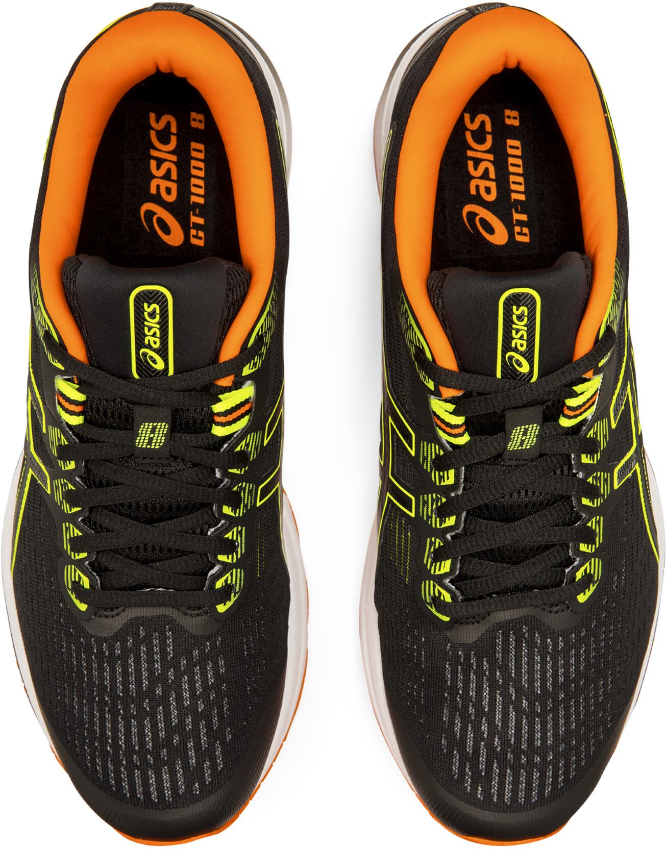 asics GT 1000 8 Scarpe Uomo, blacksafety yellow